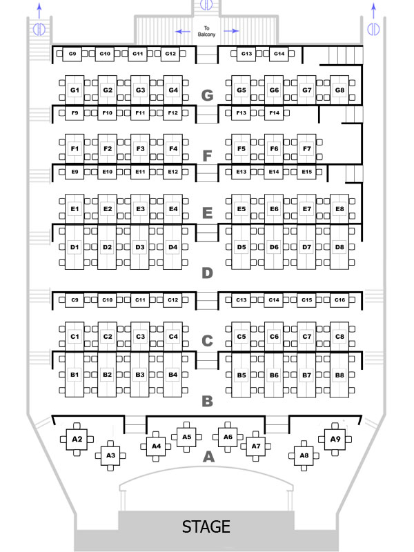 Theater Seating Chart  Candlelight Dinner Playhouse