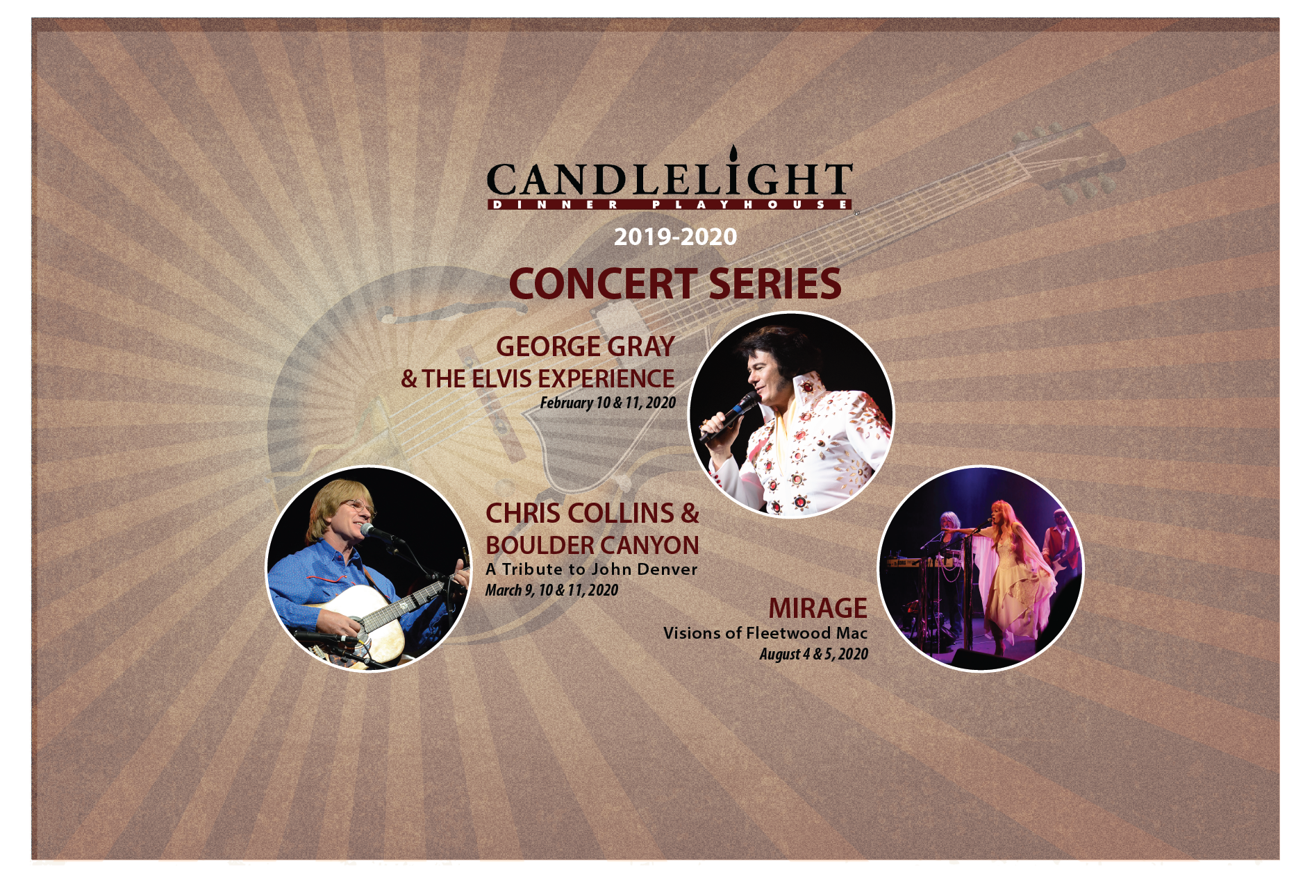 Denver March 2020 Events.Candlelight Dinner Playhouse